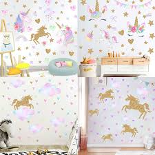 Rainbow Pony Anime Wall Decals My Little Horse 3d Pvc Stickers Kids Bedroom Nursery Decoration Marvel Poster Cartoon Wallpaper Wall Stickers Aliexpress