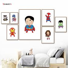 Superhero Captain America Print And Poster Movie Batman Wall Art Canvas Painting For Kids Boys Room Home Decor Painting Calligraphy Aliexpress