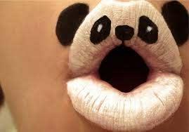 creepy cute makeup panda lips favim