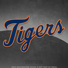 Detroit Tigers Jersey Logo Vinyl Decal Sticker Mlb 4 And Larger Glossy Ebay