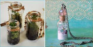 glass bottle charms and pendants