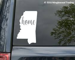 Mississippi State Vinyl Decal Sticker 6 X 3 75 Ms Home Minglewood Trading