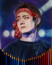 taehyung v fan art bts fan art