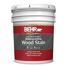 Semi Transparent Waterproofing Wood Stain Behr Deckplus Behr Pro