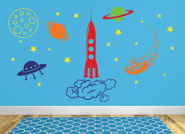 Outer Space Wall Decal Playroom Wall Decal Space Wall Mural Etsy
