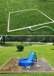 inexpensive splash pad from pvc pipes