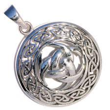 celtic knot silver pendant p087