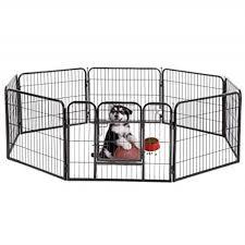Pet Puppy Playpen Dog Fence Exercise Pen Metal Heavy Duty Indoor Outdoor 8 Panels Animal Playpens For Dogs With Door 24 Walmart Com Walmart Com