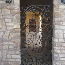decorative wrought iron entry gate
