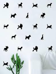 Set Of 80 Dog Silhouettes Pattern Decal Sticker Wall Vinyl Art Etsy