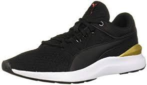 PUMA Women's Adela Sneaker, Black Team Gold, 8 M US: Amazon.com.au: Fashion