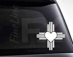 New Mexico Zia Heart Love New Mexico Vinyl Decal Sticker Etsy