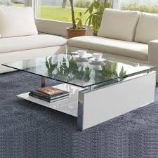 fan square coffee table by