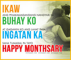 tagalog happy monthsary quotes and pinoy monthsary sayings boy banat