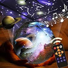 Amazon Com Kistra Remote Star Projector Night Light For Kids Room 6 Films Infant Sleep Sound Machine 360 Rotating Led Starry Sky Nightlight Music Player 18 Songs Timer Table Lamp Best Gifts Sball 002 Baby