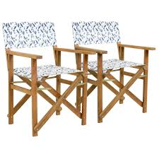 folding garden chairs dragonfly print