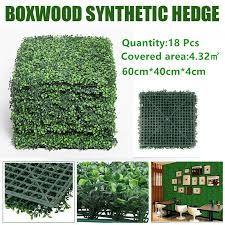 18 12pack Artificial Boxwood Panels Topiary Hedge Plants Artificial Greenery Fence Panels For Greenery Walls Gardenbackyard Artificial Plants Aliexpress