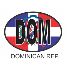 Dominican Republic Osc3 Colour Oval Car Decal Flags N Gadgets