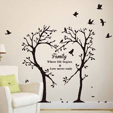 Brown Tree For Walls Small Classroom Decal Living Room Art Willow Branch Aspen Birch Vamosrayos