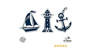 Nautical Boat Naval Ocean Sea Car Window Bumper Anchor Sticker Vinyl Decal