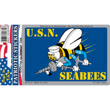 Shop Us Navy Seabees Car Decal 3 By 4 Inches Overstock 18110904