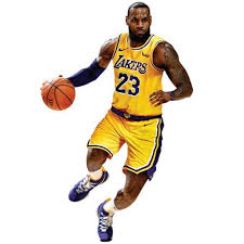 Lebron James Los Angeles Lakers Fathead Life Size Removable Wall Decal Walmart Com Walmart Com