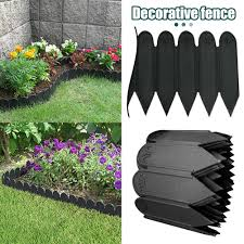 Garden Fence Fencing Edging Picket Grass Lawn Borders Panel Edge Landscape Path 8 Bridge White