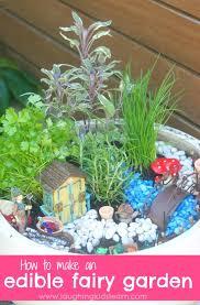 how to make an edible herb fairy garden