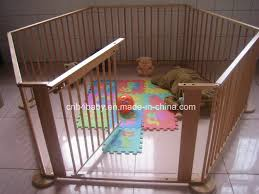 China Nz Pine Wood 6 Sides Baby Playpens With Gate China Baby Playpens Wooden Playpen