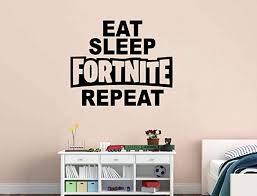 Eat Sleep Fortnite Repeat Gamer Room Vinyl Wall Decal Sticker Game Room Wall Art Vinyl Wall Decals Letter Wall