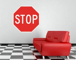 Stop Sign Wall Decal Etsy