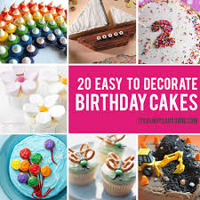birthday cakes that anyone can decorate