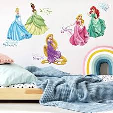 Amazon Com Roommates Rmk2199scs Disney Princess Royal Debut Peel And Stick Wall Decals Home Improvement