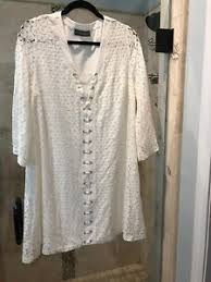 NWT New Addie White Lace Up Fitted Lace Shift Dress Large L Boho ...