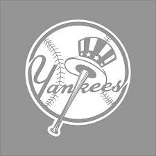 New York Yankees Mlb Team Logo 1 Color Vinyl Decal Sticker Car Window Wall