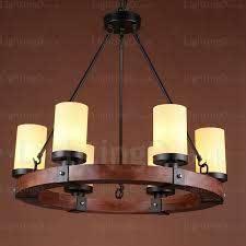 6 light country rustic pendant lights