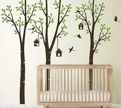 Poplar Trees Forest Birdhouse Boy Girls Wall Decals Nursery Kids Baby Idecoroom