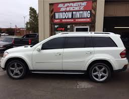 Mercedes Benz Gl 550 Murdered Out Supreme Shadez Window Tint Clear Bra Facebook