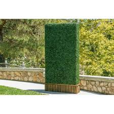 E Joy 3 5 Ft H X 3 5 Ft W Artificial Planes Milan Hedge Polyethylene Fencing Reviews Wayfair In 2020 Artificial Hedges Garden Fence Panels Privacy Screen