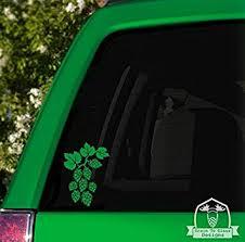 Amazon Com Grain To Glass Designs Hops Vine Vinyl Car Decal 6 Green Automotive