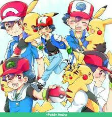 Pokemon Generations Ash Ketchum in Kanto, Hoenn, Sinnoh, Unova and ...