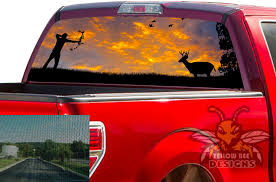 Arrow Hunting Rear Window Vinyl 2020 Ford F150 Perforated Decals
