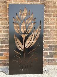 Torchflower1 Metal Privacy Screen Decorative Panel Outdoor Etsy