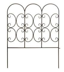 Panacea 87401 Triple Arch Edge Fence 31 X24 Black By Panacea Products 15 99 Triple Arch Style 31 H X 24 W Great For E Garden Arches Garden Edging Fence