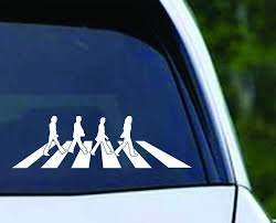 The Beatles Abbey Road Vinyl Decal Sticker Texas Die Cuts