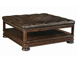 living room leather cocktail ottoman