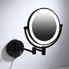 makeup mirrors black painting led wall