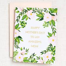 Amazing Mom Floral Foil Mother's Day Card – White Horse Wine and Spirits
