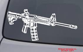 Ar 15 Vinyl Decal Sticker Car Window Wall Bumper Gun Ammo Assault Rifle M16 5 56 Ebay