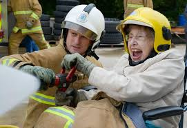 Discovering their fire and rescue service at Older People's Day